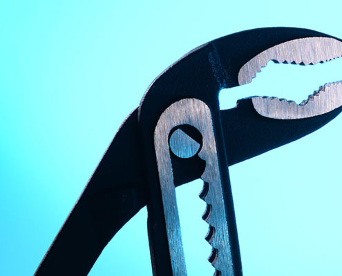 wrench for sump pump maintenance